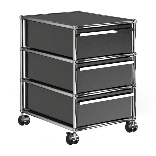 [USM Haller] Container With Wheels & 3 Drawers