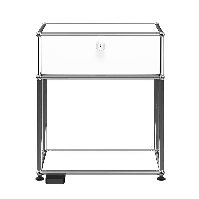 [USM Haller/유에스엠 할러] Bedside Table with Folding door and Light // 베드사이드 테이블 위드 폴딩 도어 앤 라이트