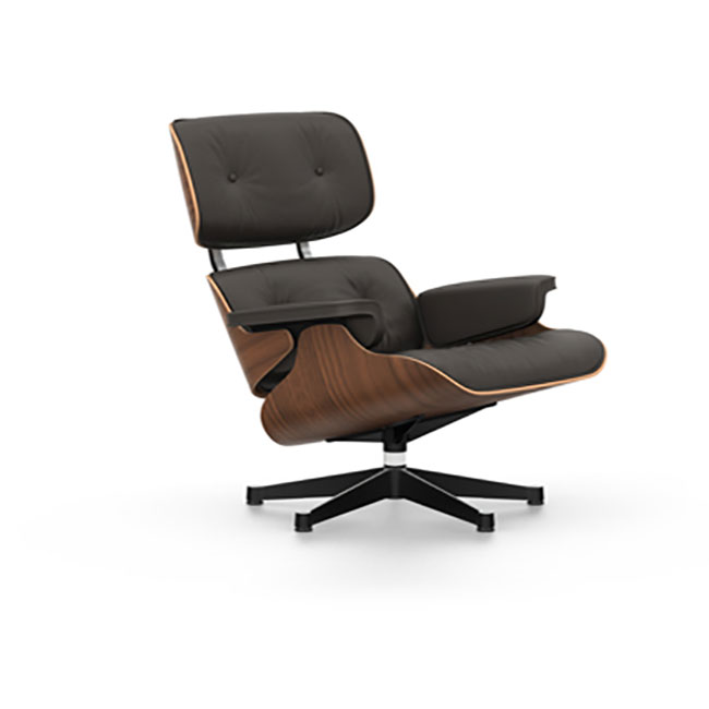 [Vitra/비트라] Eames Lounge Chair (Classic Version - Walnut, black pigmented / polished side black )