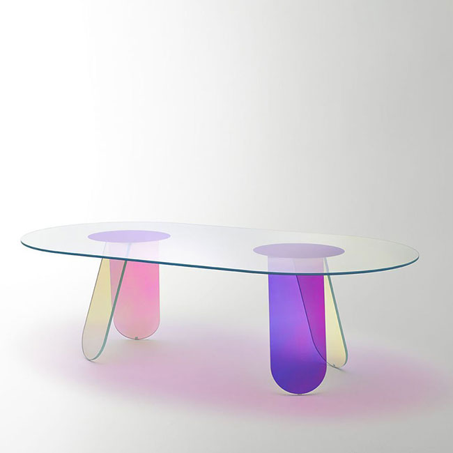 [GLAS ITALIA/글라스 이탈리아] Shimmer Table 240 (2colors) // 쉬머 테이블 240 (2colors)