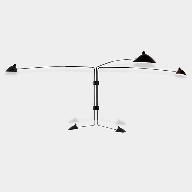 [Serge Mouille/세르주 무이] Sconce 5 rotating straight arms (2 colors) // 스콘스 5 로테이팅 스트레이트 암즈 (2 colors)