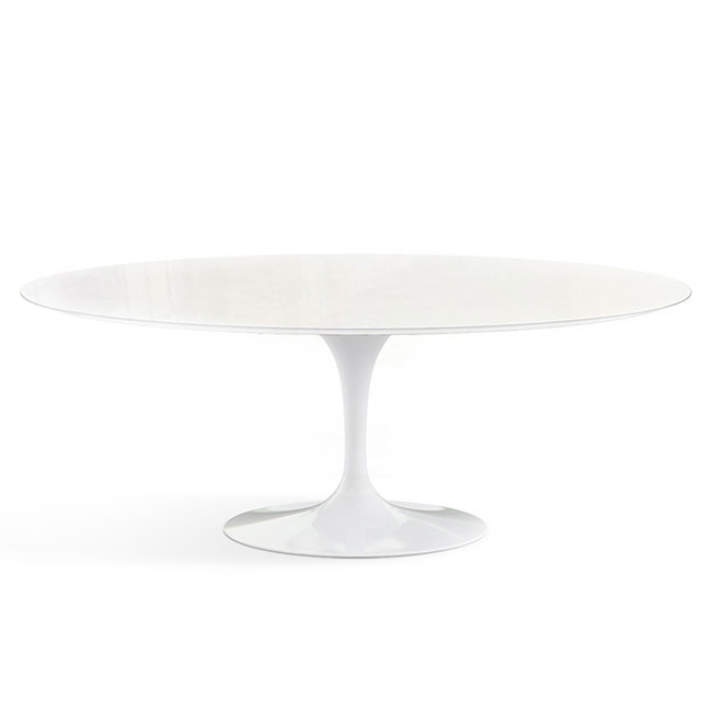 [Knoll/놀] Saarinen Outdoor Dining Table, Oval 198 x 121 // 사리넨 아웃도어 다이닝 테이블, 오벌 198 x 121