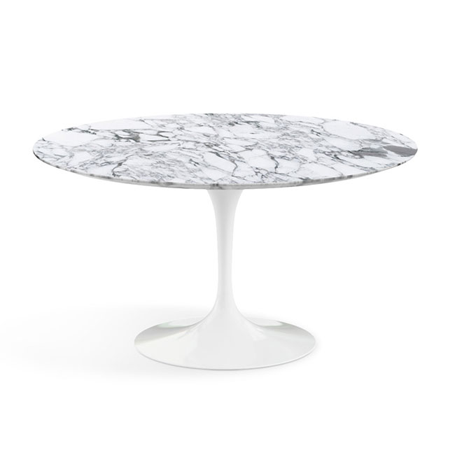 [Knoll International/놀 인터네셔널] Saarinen Dining Table, Ø 137, White Base