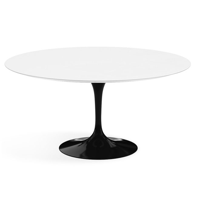 [Knoll International/놀 인터네셔널] Saarinen Dining Table, Ø 152, Black Base