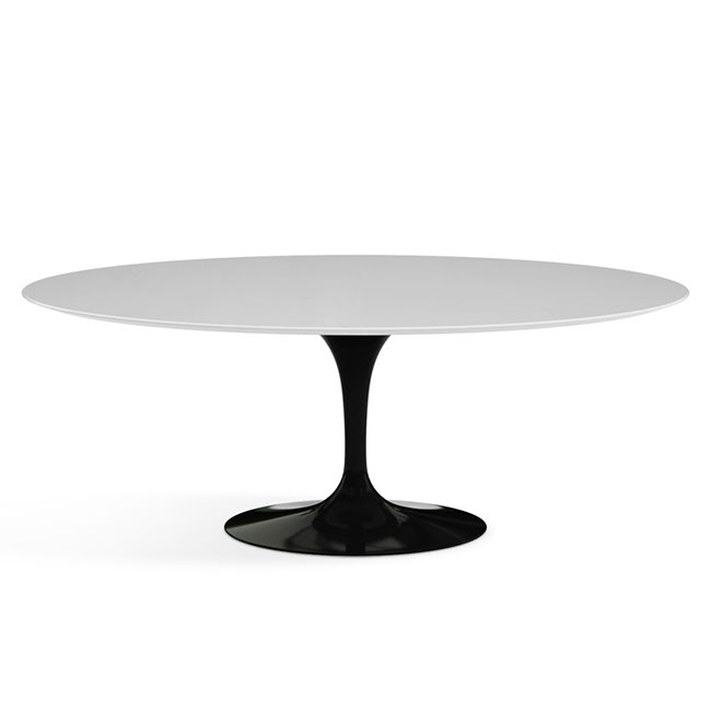 [Knoll International/놀 인터네셔널] Saarinen Dining Table, Oval 198 x 121, Black Base