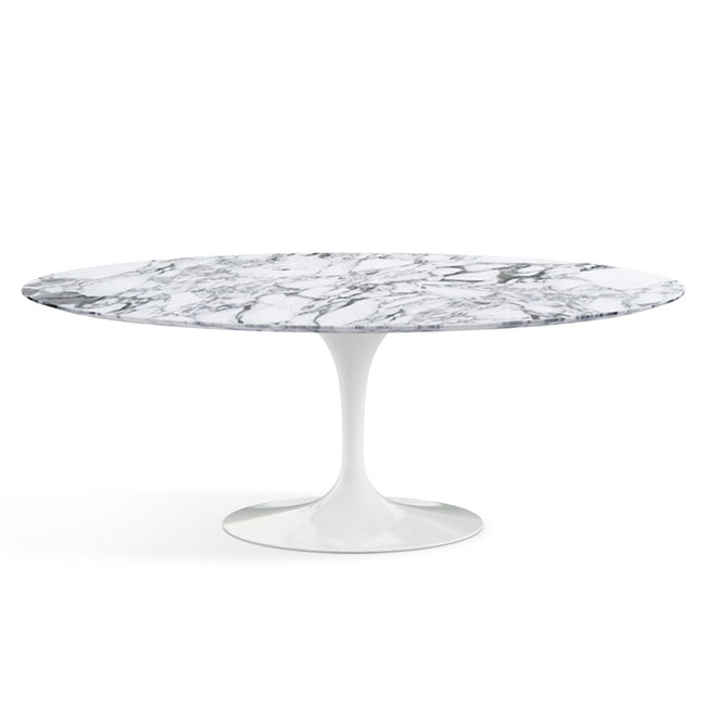 [Knoll International/놀 인터네셔널] Saarinen Dining Table, Oval 198 x 121, White Base