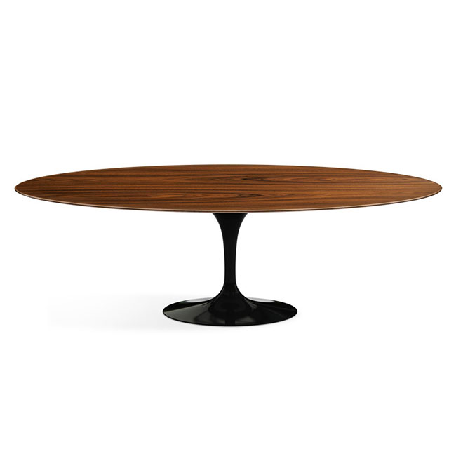 [Knoll International/놀 인터네셔널] Saarinen Dining Table, Oval 244 x 137, Black Base