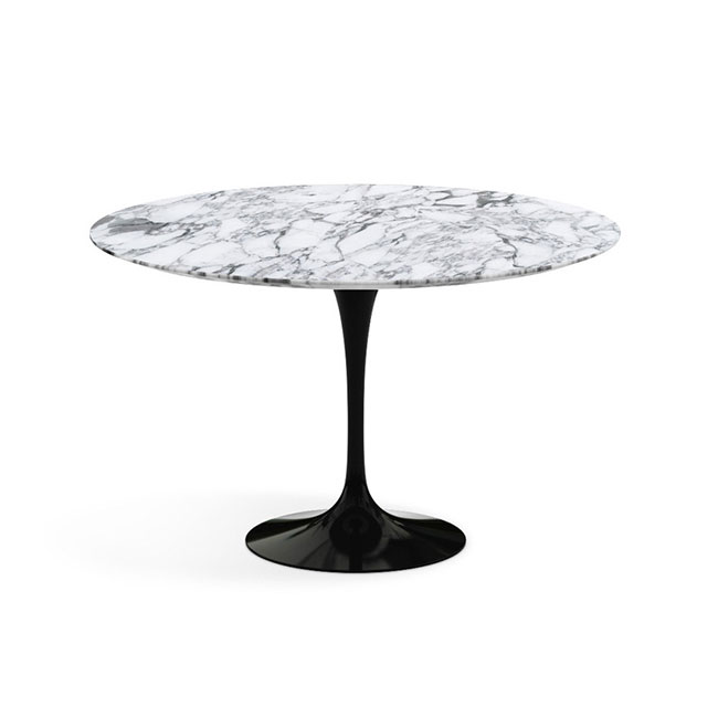 [Knoll International/놀 인터네셔널] Saarinen Dining Table, Ø 120, Black Base