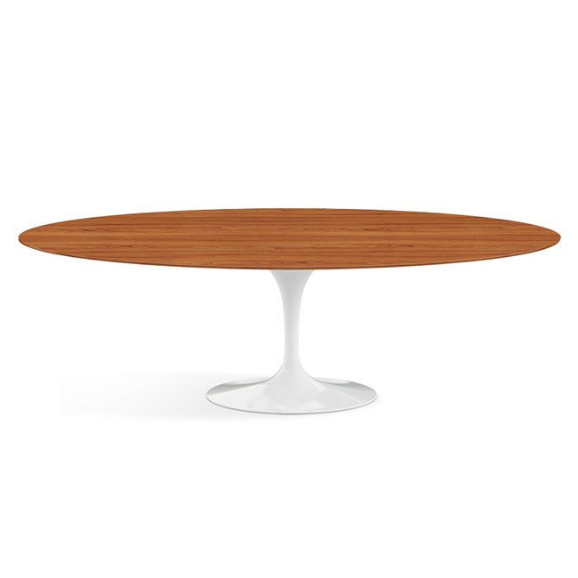 [Knoll International/놀 인터네셔널] Saarinen Dining Table, Oval 244 x 137, White Base